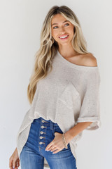 Ivory - Knit Top