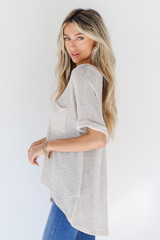 Knit Top in Ivory Side View
