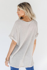 Knit Top in Ivory Back View
