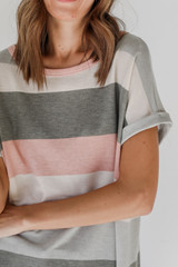 Close Up of a Striped Tee