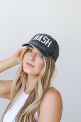 Model wearing the Nash Embroidered Hat