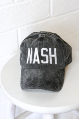 Flat Lay of the Nash Embroidered Hat