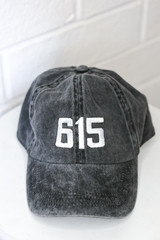 Flat Lay of the 615 Embroidered Hat