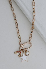 Gold - Charm Necklace from Dress Up