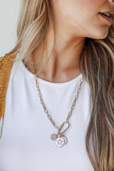 Model wearing a Charm Necklace