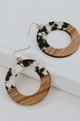 Black - Statement Earrings from Dress Up