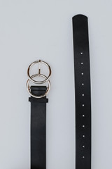 Black - Double Buckle Belt from Dress Up