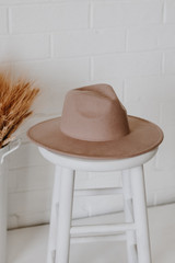 Taupe - Wide Brim Fedora Hat from Dress Up