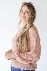 Loose Knit Sweater Side View