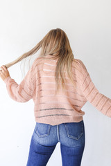 Loose Knit Sweater Back View