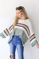 Sage - Striped Sweater from Dress Up