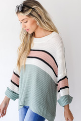 Striped Sweater Side View