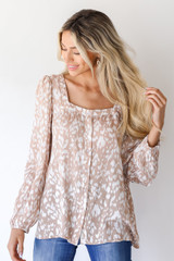 Taupe - Blouse from Dress Up
