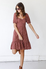 Marsala - Floral Dress from Dress Up