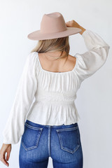 Smocked Blouse Back View