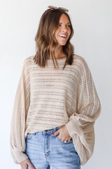 Ivory - Loose Knit Sweater