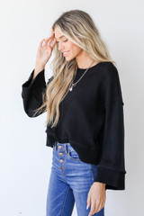 Sweater in Black Side View
