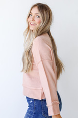 Sweater in Blush Side View
