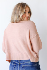 Sweater in Blush Back View
