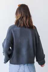 Sweater in Blue Back View