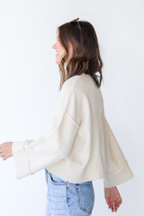Sweater in Ivory Side View