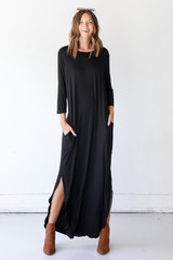 Jersey Knit Maxi Dress Front View