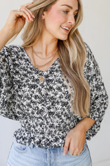 Close Up of a Floral Blouse