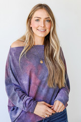 Oversized Tie-Dye Tunic Front View
