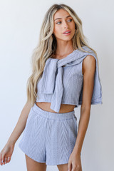 Blue - Knit Shorts from Dress Up
