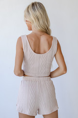 Knit Shorts in Blush Back View