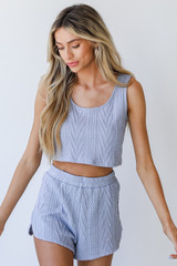 Blue - Knit Tank from Dress Up