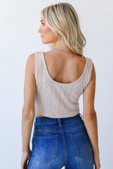 Knit Tank in Blush Back View