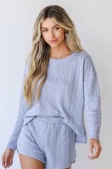 Blue - Knit Pullover from Dress Up