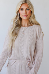 Blush - Model wearing a Knit Pullover