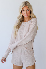 Blush - Dress Up model wearing a Knit Pullover
