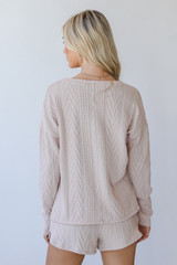 Knit Pullover in Blush Back View