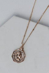 Gold - Coin Necklace from Dress Up