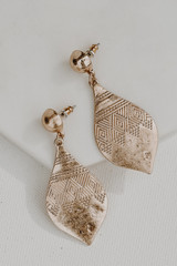 Gold - Drop Earrings from Dress Up