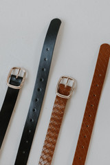 Flat Lay of both colors in the Skinny Belt Set