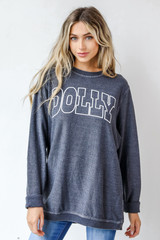 Black - Dolly Corded Pullover