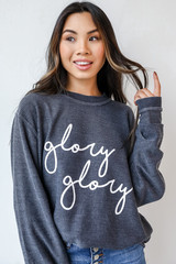 Black - Glory Glory Corded Pullover