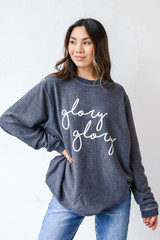 Glory Glory Corded Pullover Front View