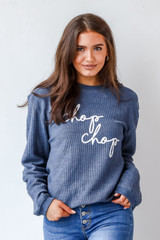 Navy - Chop Chop Corded Pullover