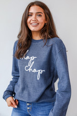 Navy - Chop Chop Corded Pullover from Dress Up