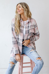 Blush - Oversized Flannel from Dress Up