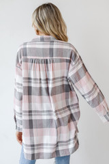 Oversized Flannel Back View