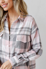 Close Up of an Oversized Flannel
