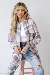 Oversized Flannel Front View