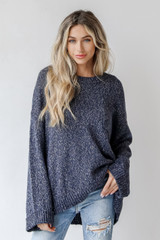 Navy - Oversized Sweater Front View