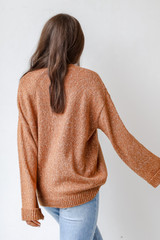 Oversized Sweater in Camel Back View